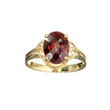 APP: 0.6k Fine Jewelry 14KT. Gold, 3.21CT Oval Cut Red Almandite Garnet Ring