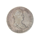 Extremely Rare 1813 Eight Reale American First Silver Dollar Coin Great Investment
