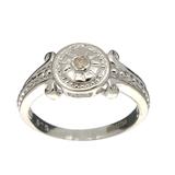 Rare Designer Sebastian Vintage, Cubic Zirconia And Sterling Silver Ring