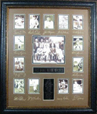 *Rare Baseball Hall of Fame First 13 Museum Framed Collage - Plate Signed