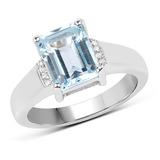Gorgeous Sterling Silver 2.50CT Blue Topaz Ring App. $305 - Great Investment - Exquisite Piece!