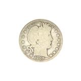 1908-D Barber Head Half Dollar Coin