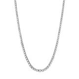 *Fine Jewelry 14KT White Gold, 7.50CT Round Brilliant Cut Diamond Necklace (VGN A-49) (Vault V)