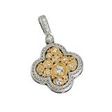 *Fine Jewelry 14KT.T Two Tone Gold, .35CT Round Brilliant Cut Diamond Drop Pendant (VGN A-64P)