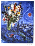 MARC CHAGALL (After) La Dormeuse Aux Fleurs Print, I217 of 500