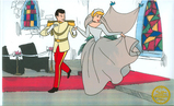 Walt Disney (After)  Serigraph, Cinderella and Prince at Chappel W/ certificate Of Authenticity