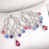 Platinum Over Sterling Silver French Cubic Zirconium Earrings