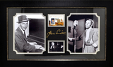 *Rare Frank Sinatra with Authentic Swatch of Clothing Museum Framed Collage - Plate Signed