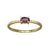 APP: 0.6k Fine Jewelry 14KT. Gold, 0.31CT Ruby And Diamond Ring