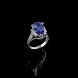 APP: 12.2k Fine Jewelry 14KT. White Gold, 6.43CT Tanzanite And Diamond Ring