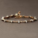 *Fine Jewelry 14KT. Two Tone Gold, 1.00CT Round Brilliant Cut Diamond Bracelet (VGN A-301) (Vault V)