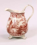 7.5 Inch Red and White Pitcher