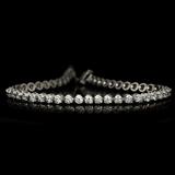 *Fine Jewelry 14KT. White Gold, 3.00CT Round Brilliant Cut Diamond Bracelet (VGN A-38) (Vault V)