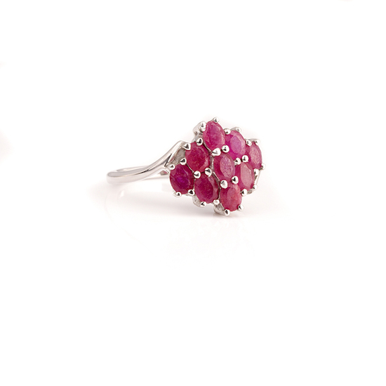 APP: 2.2k Fine Jewelry 1.89CT Oval Cut Ruby And Platinum Over Sterling Silver Ring