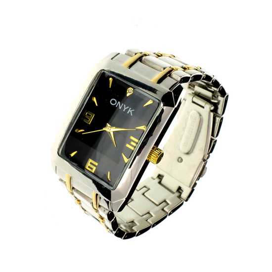 New Men's Onyk Stainless Steel Back Water Resistant Quartz Movement Watch