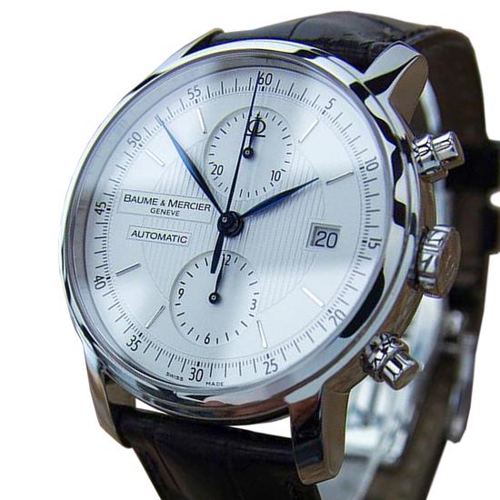 *Baume Mercier Men Classima XL Cronograph Swiss Made Watch Box Papers 2015 -P-