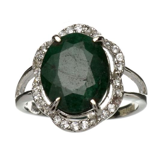 APP: 3.8k Fine Jewelry Designer Sebastian 3.12CT Green Beryl Emerald And Topaz Platinum Over Sterlin