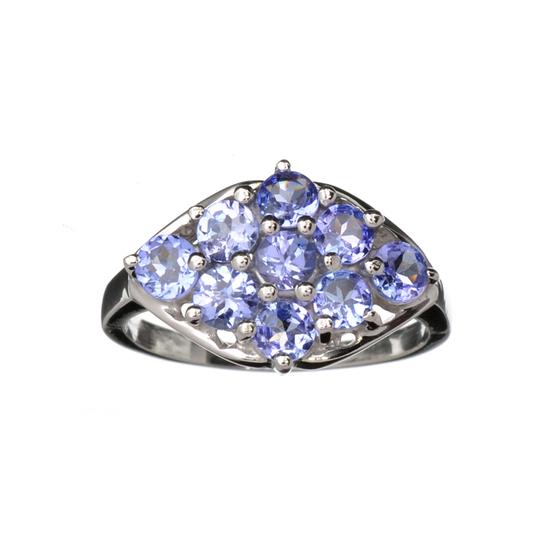Designer Sebastian 1.80CT Oval Cut Violet Blue Tanzanite And Platinum Over Sterling Silver Ring