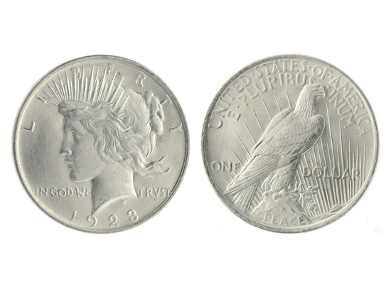 """Very Rare 1923 Brilliant Uncirculated """"Peace"""" Silver Dollar Coin -Great  Investment-"""""""