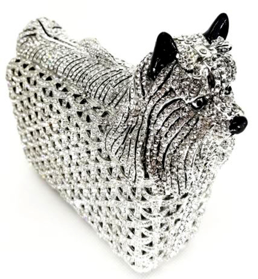 *Rare Exquisite Swarovski Crystal Element Handbag by Christal Couture -Winston (Silver) - Great Inve