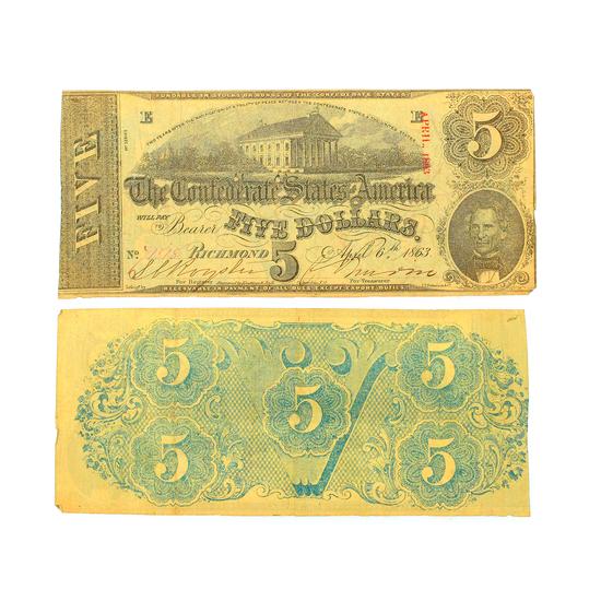 $5 Richmond Confederate States of America Note