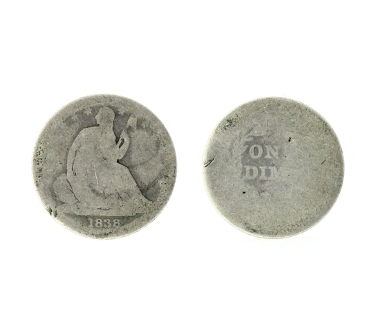 Very Rare 1838 US Liberty Seated Type Dime Coin -Great Investment-