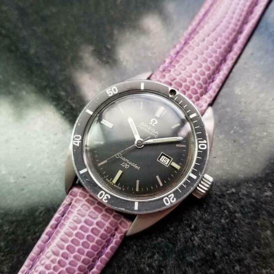 *OMEGA Midsize Seamaster 120 Date Automatic c.1966 Swiss Vintage Men's Watch -P-