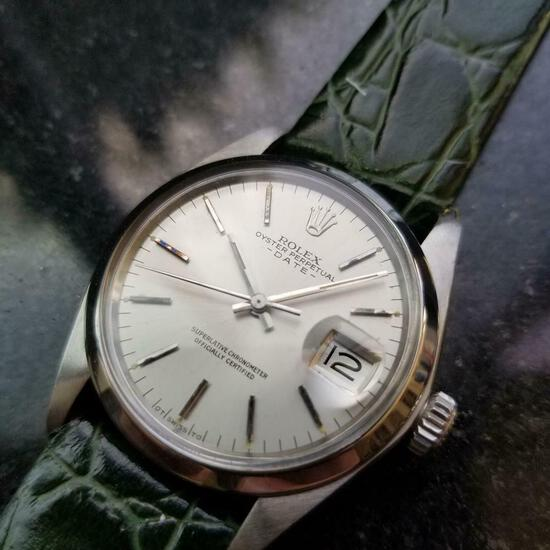 *ROLEX Oyster Perpetual Date 35mm Automatic c.1970s Men's Watch -P-