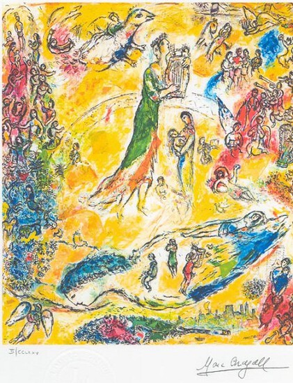 MARC CHAGALL (After) King David Print, 343 of 500