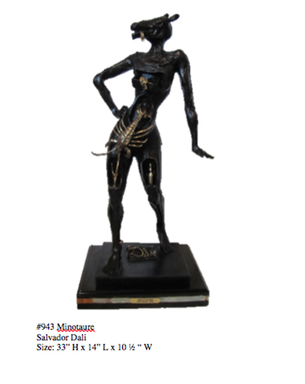 *Rare Limited Edition Numbered Bronze Dali ''''Minotaure'''' 33'''' H x 14'''' L x 10.5'''' W -Great
