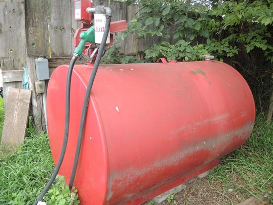 2008 Red 560 Gallon Fuel Tank