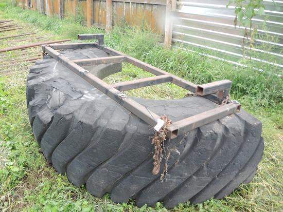 HMDE Bucket Mnt 8' Tire Scraper