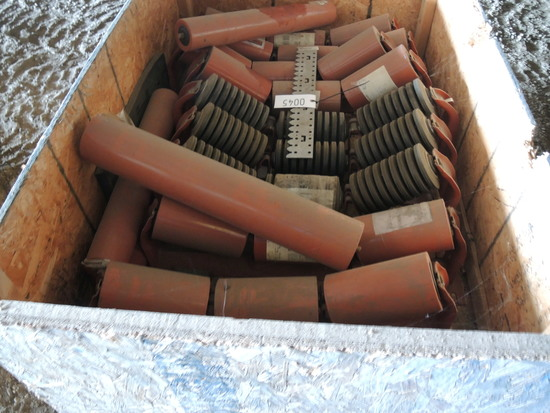 Pallet Box of New Rollers for Conveyor