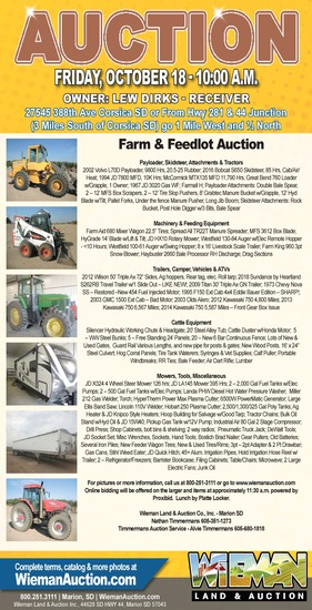 Farm and Feedlot Equipment Auction