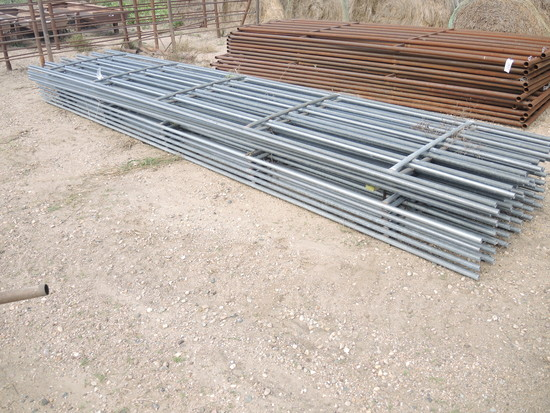 16 - 20' 6 Bar Galvanized Continuous Fence Panels