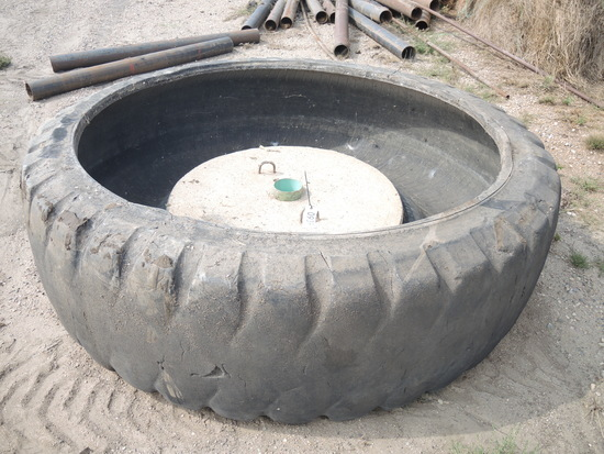Turned Tire Water Fountain