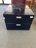 2- Black Filing Cabinets