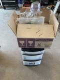 Wine Glasses &I Plastic Cabinet
