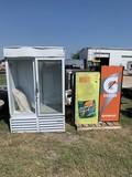 2- Gatorade Sliding Coolers & 1 Beverage Air Cooler