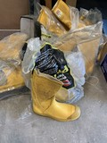 10 Pair of Size 8 Steel toe Rubber Boots