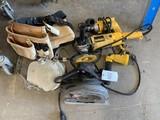 Dewalt Drill, Sander, polisher, skill saw, shop light, tool belt & knee pads