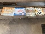 Coke, Pepsi,k Farwell & Route 66 Sign
