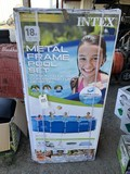 New Intex 18ft Metal Frame Pool set