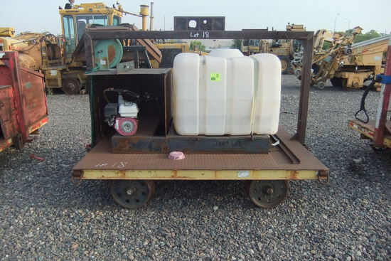 Misc. Water Cart; Model #: Unknown; S/N: Unknown