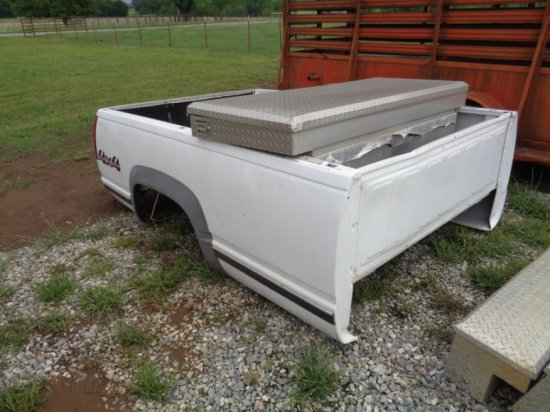 Chevrolet Truck Bed with Tool Box and bumper