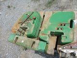 (12) John Deere Front Weights with Bracket