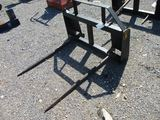CA 4 Skid Steer Quick Attach Hay Fork