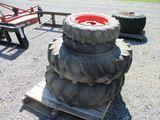(2) 11.2x24/(2) 7x16 Tires on Kubota Rims