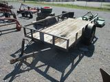 10' Single Axle Tilt Deck Utility Trailer