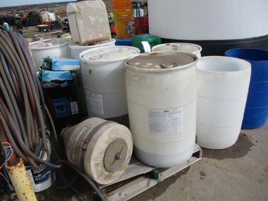Barrels and Contents, Hay Innoculant